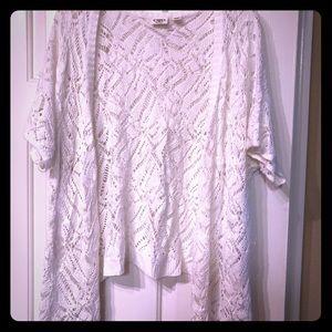White Crochet Shrug